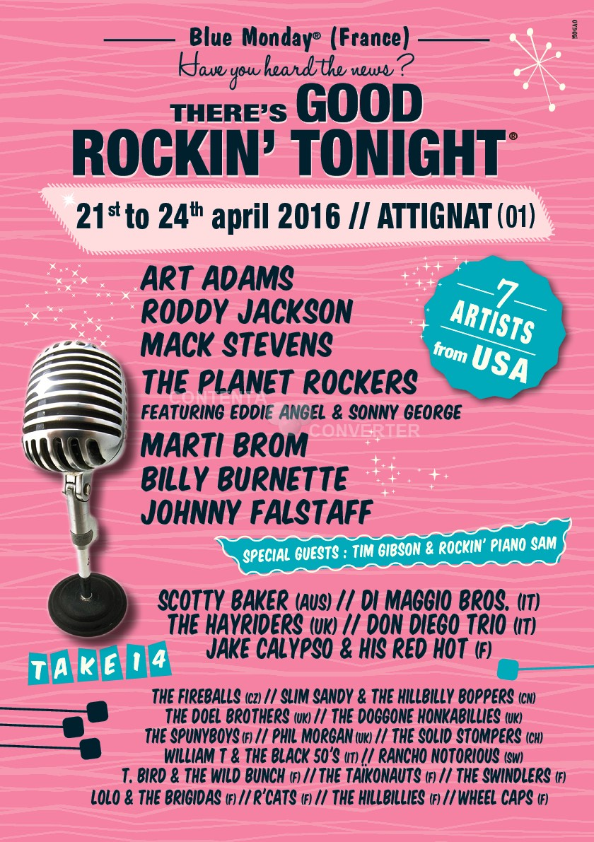Good Rockin Toonight 2016 take #14 Flyeranglais